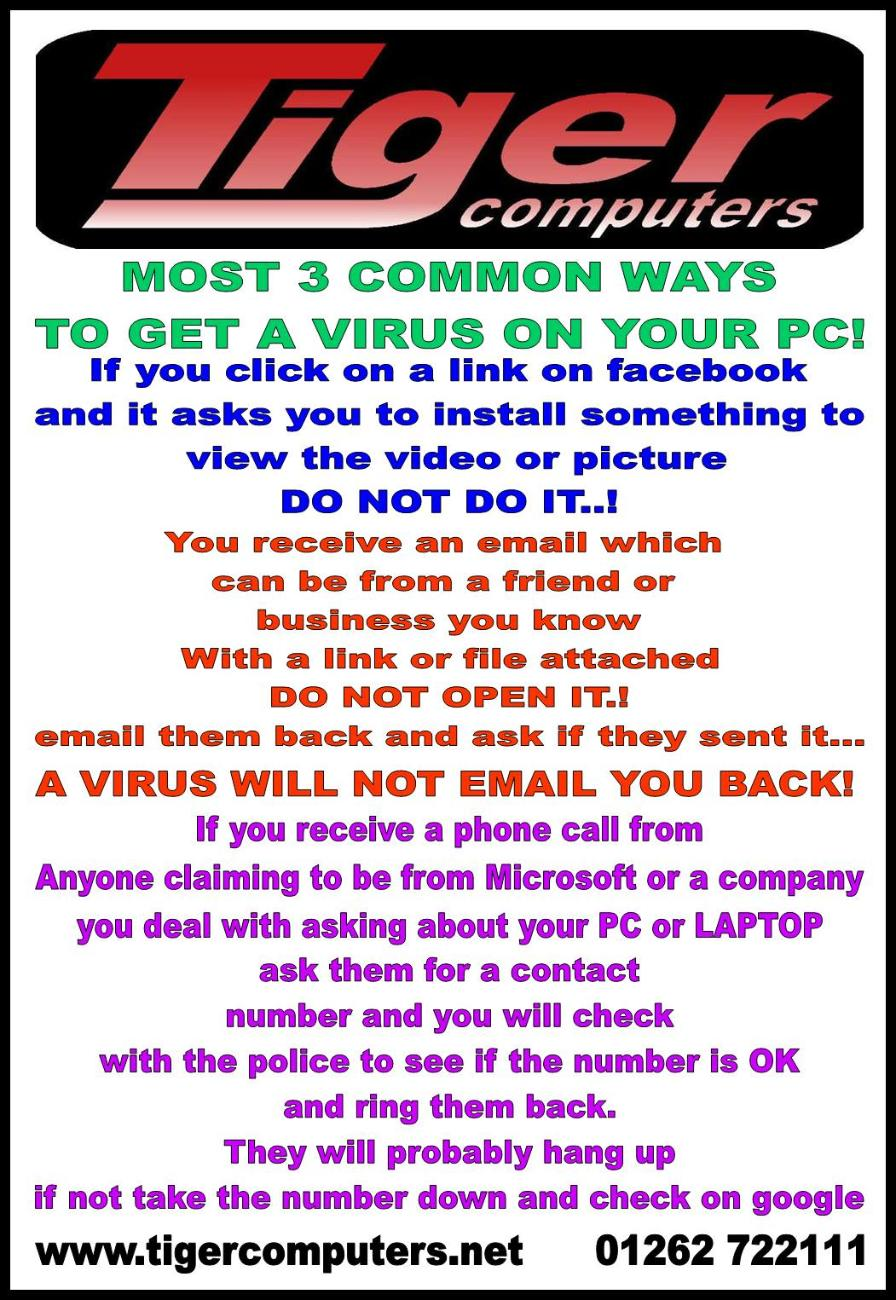 3 Most Common ways to get a virus on your PC